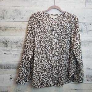 Large LOFT Cheetah Print Blouse